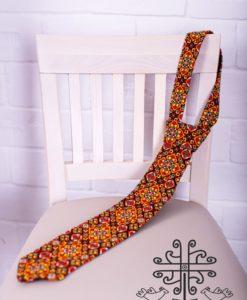 Краватка з гуцульською вишивкою В4