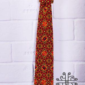 Краватка з гуцульською вишивкою В3