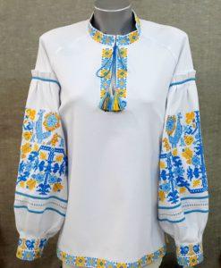 """Вишиванка """"Аліна"""" жовто-блакитна"""