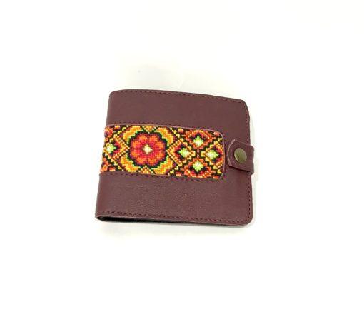 """Чоловічий гаманець """"Ватра"""" бордо"""