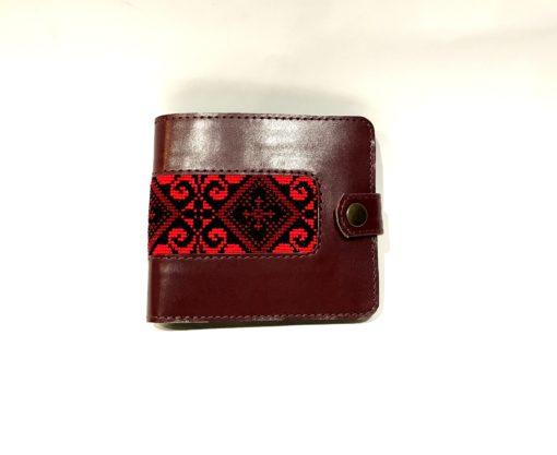 """Чоловічий гаманець """"Стожари"""" бордо"""