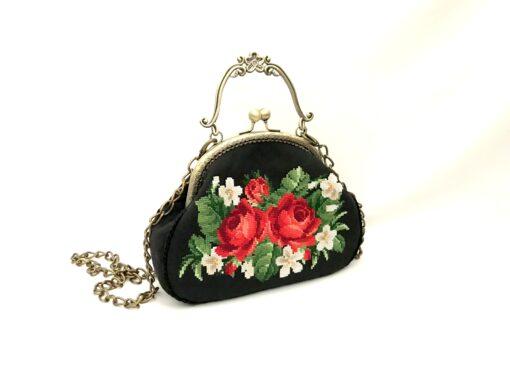 """Cумка """"Ніжні троянди"""" маленька А1"""
